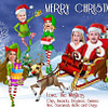 Santa Elf Christmas Card