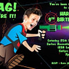 Laser Tag Party - Caricature