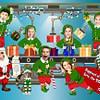 Santa's Workshop Family Christmas Card