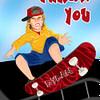 Skateboard thank you card