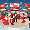 Retro Diner Christmas Card