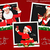 Baby taking a Christmas Selfie family christmas card