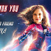 Captain Marvel Thank you Card