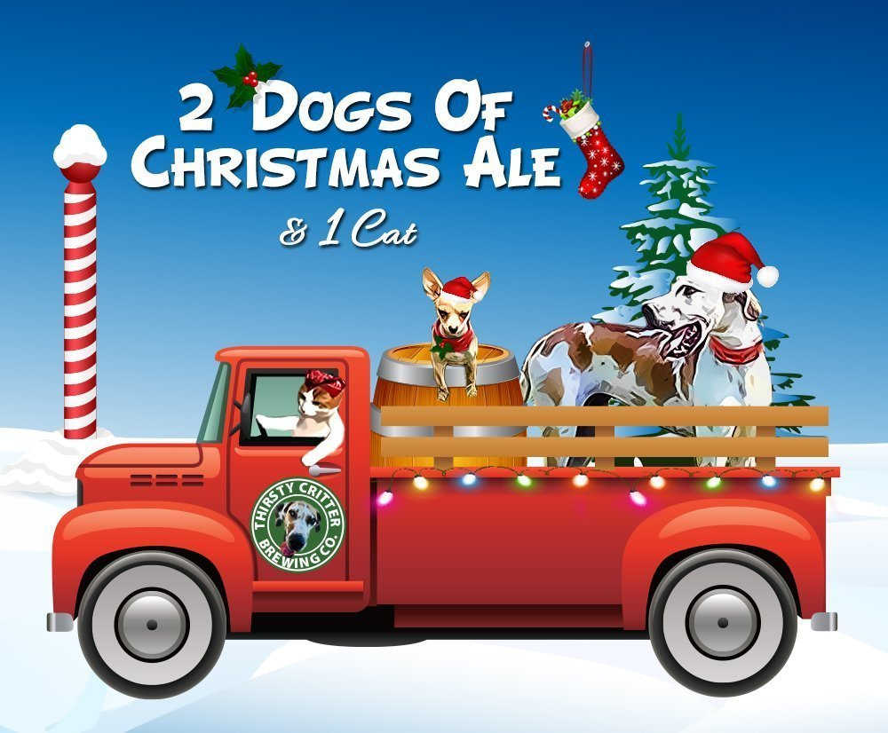 Beer Label Template Christmas card