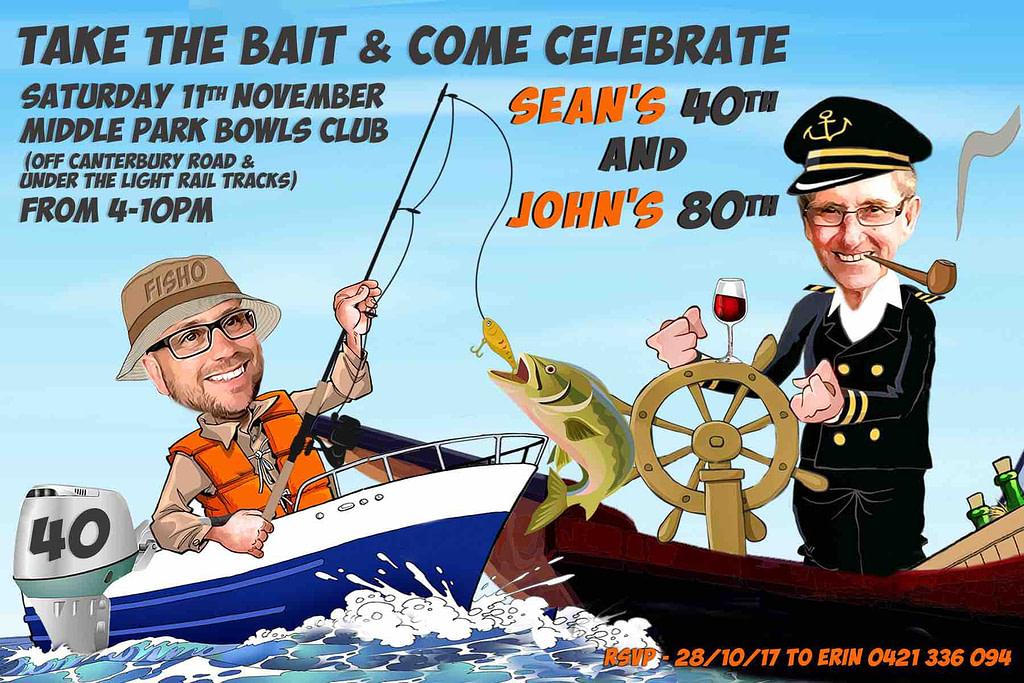 Fishing Sailing Custom Birthday invitation