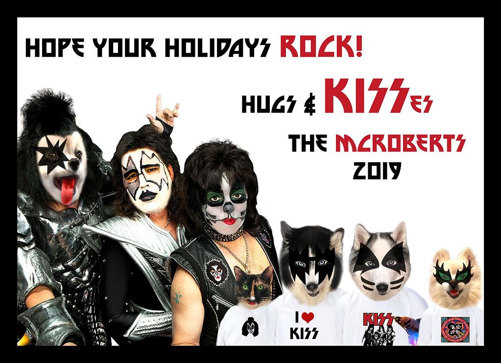 Kiss Christmas Card