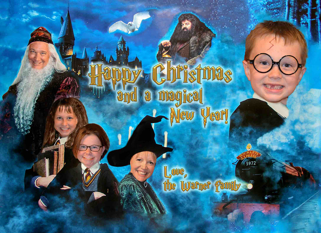 Harry Potter Christmas Card