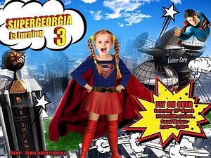SUPER GIRL INVITATION