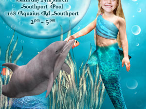 Photo Mermaid Birthday Invitation,