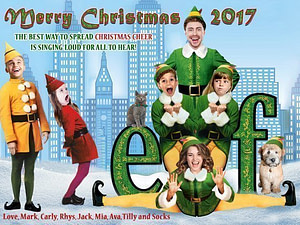 New York Buddy the Elf Christmas Card