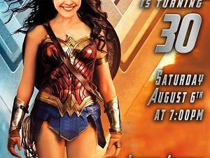 Adult Wonder woman Invitation