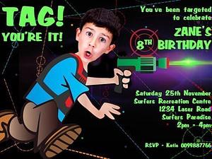 lasertag Comic invite