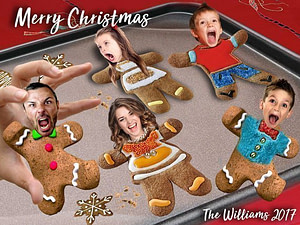 Funny Gingerbread Men Christmas Card