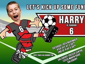 Caricature Soccer Invitation