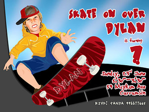 Skateboard-Invite