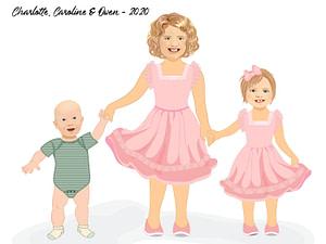 Illustrated Portrait Children