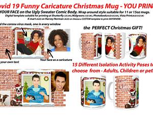 Personalized Cartoon Covid-19 Christmas MUG