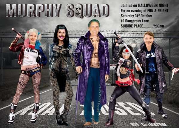 Suicide Squad Photo Invitation