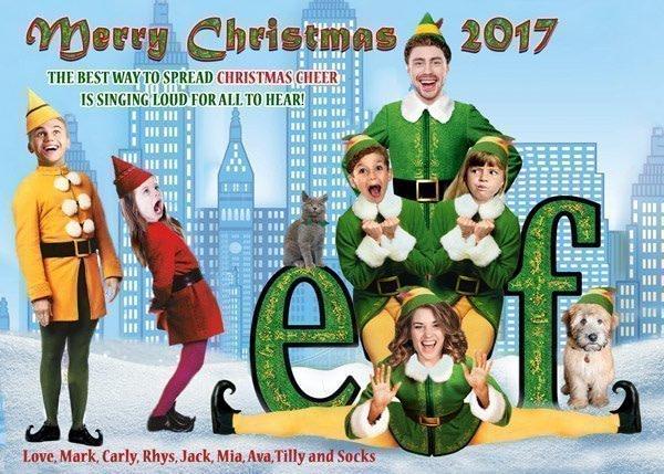 New York Buddy the Elf Christmas Card
