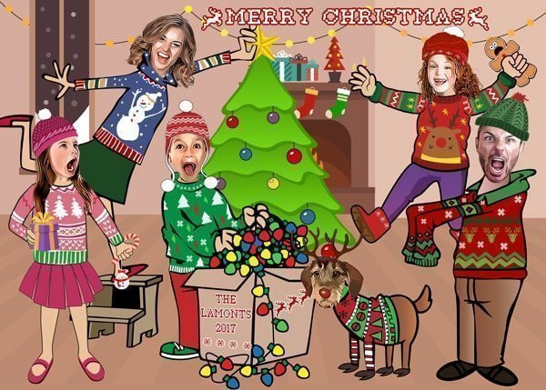 Ugly Sweater FAMILY CHRISTMAS CARD