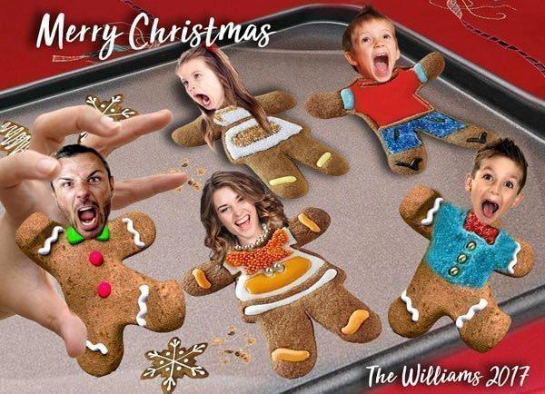 Funny Gingerbread Men Christmas Card