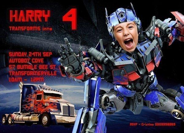 Optimus Prime Invitation