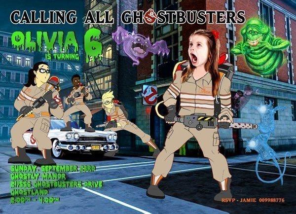 Ghostbusters Birthday card