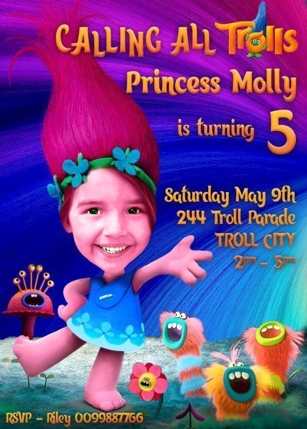 Princess Poppy Invitation