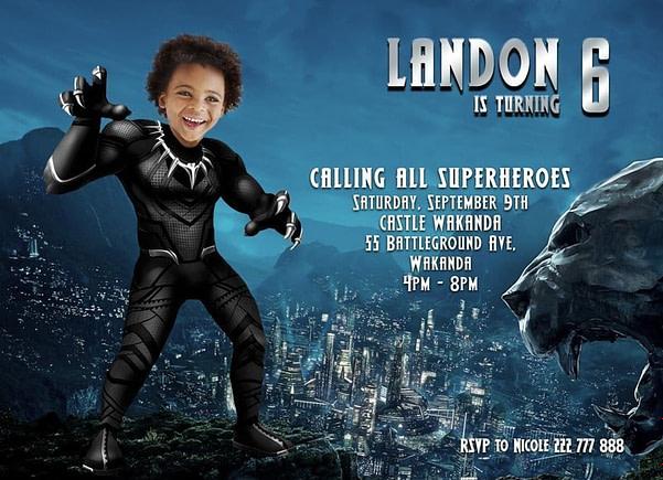 Black Panther - Birthday Invitation