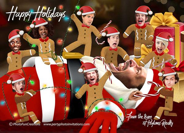 Gingerbread Cookies take revenge on Santa
