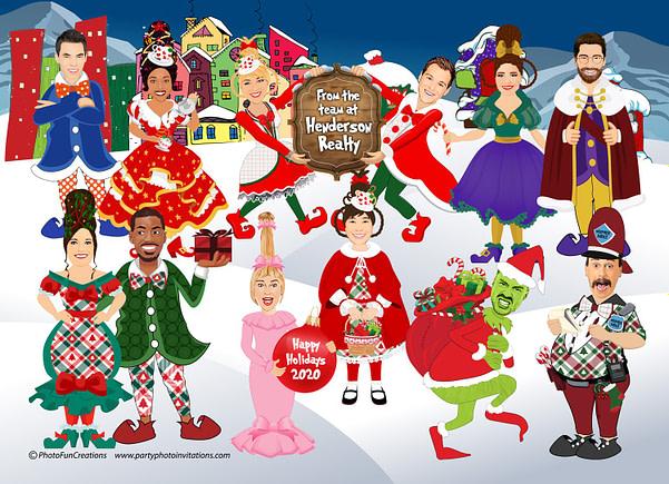 Grinch Company Christmas Card