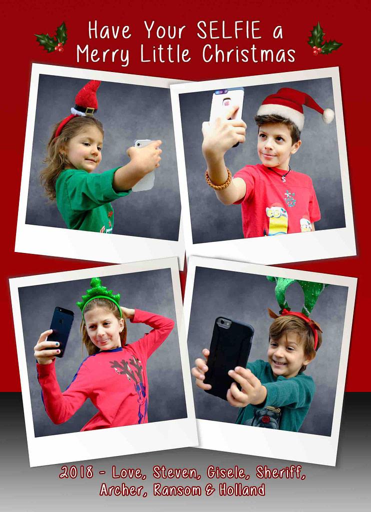 Funny Elfie Selfie Christmas Card