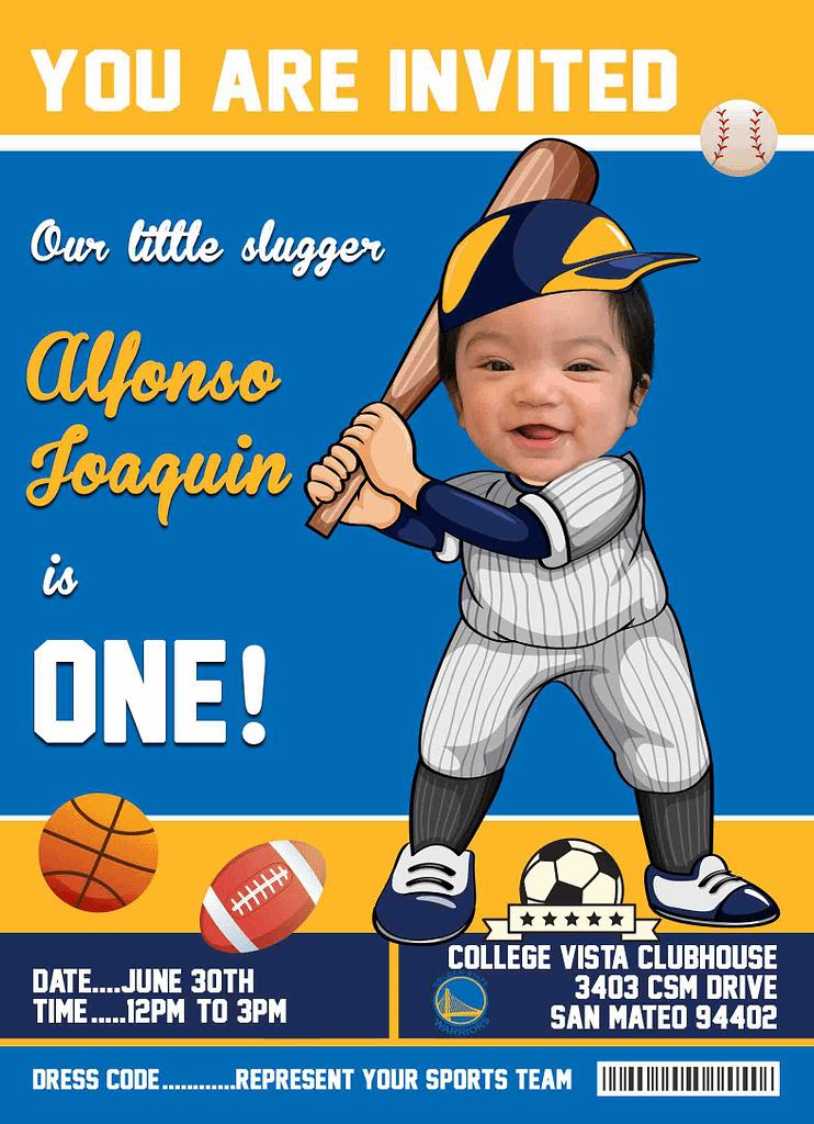 Baseball photo birthday card